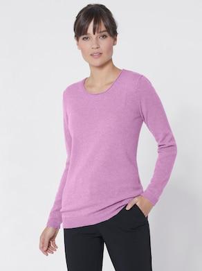 Kaschmir-Pullover - flieder-meliert