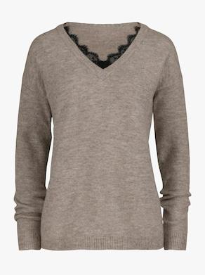 Pullover - sand-graphit-meliert