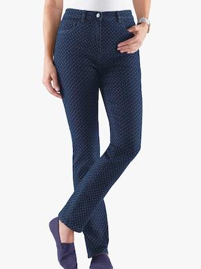Jeans - blå-sten-prickig