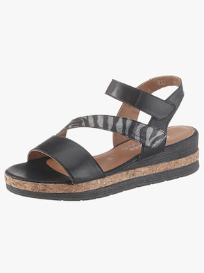 Sandalette - schwarz-grau