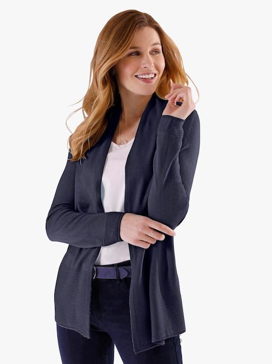 Pletený kabátek - noční modrá