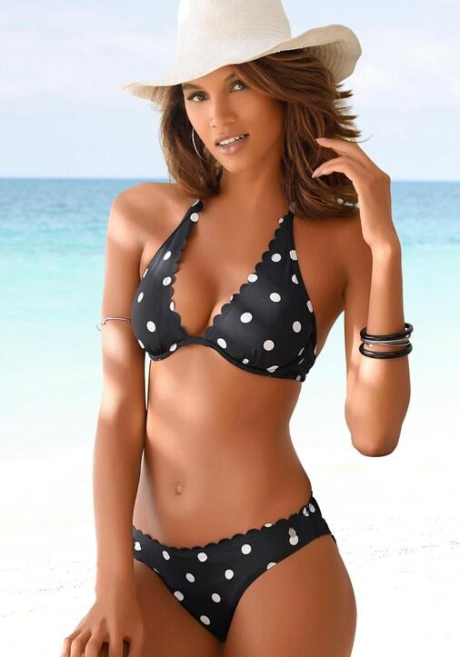 LASCANA Bügel-Bikini-Top - schwarz-weiß