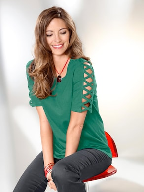 Shirt - smaragdgrün