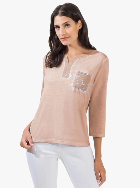 3/4-Arm-Shirt - puder