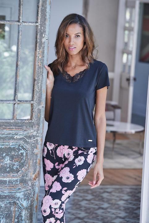 LASCANA T-Shirt - schwarz