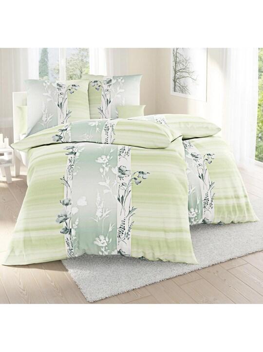 Irisette Feinbiber-Bettwäsche - lindgrün