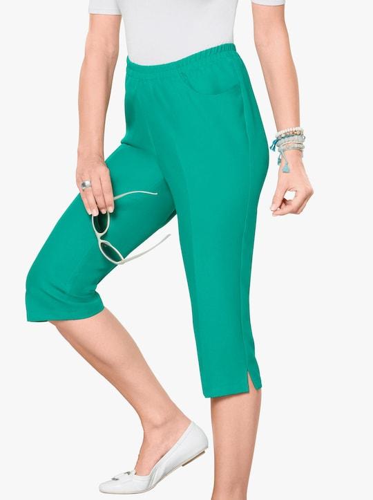 Capri-legging - smaragdgroen