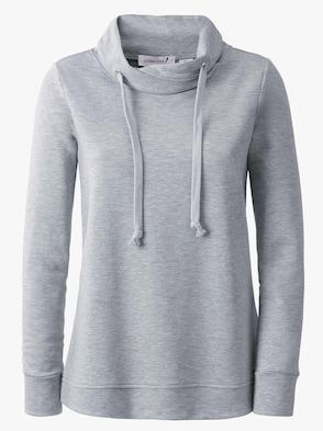 Sweatshirt - grau-meliert