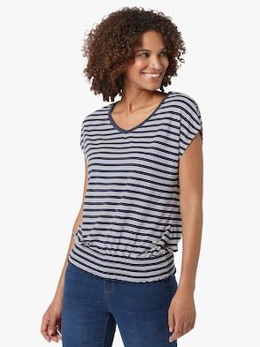Shirt - marine-ecru-gestreift