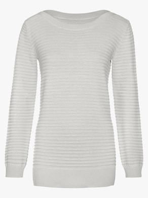 Langarm-Pullover - ecru