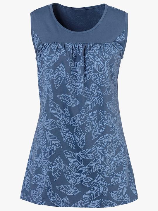 Shirttop - jeansblau-gemustert