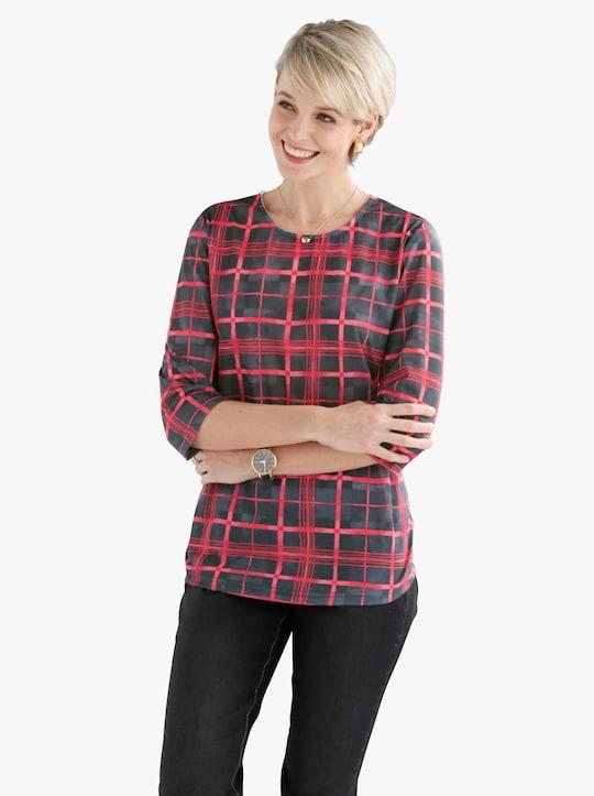 Shirt - zwart/rood geruit