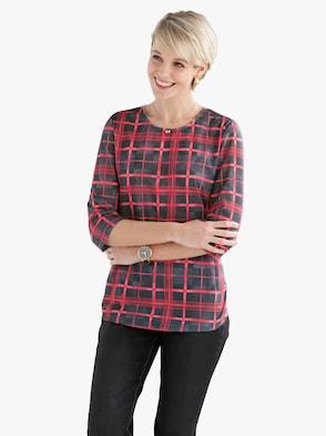 Shirt - schwarz-rot-kariert