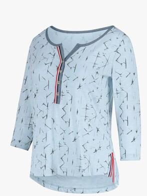 Shirt - blau-bedruckt