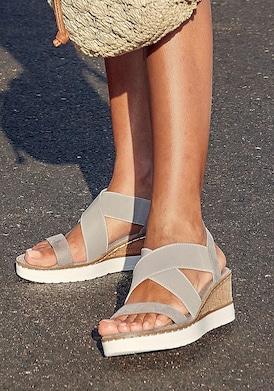LASCANA Sandalette - grau