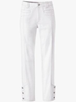 7/8-Jeans - wollweiß
