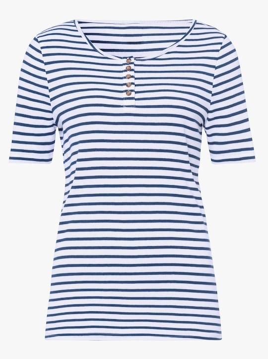 Shirt - donkerblauw gestreept