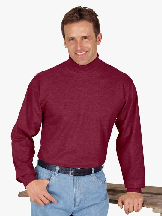 Rollkragen-Shirt - bordeaux