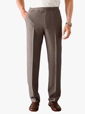 Pohodlné kalhoty - hnědá-melír