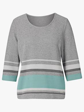 Collection L Sweatshirt - grau-gestreift