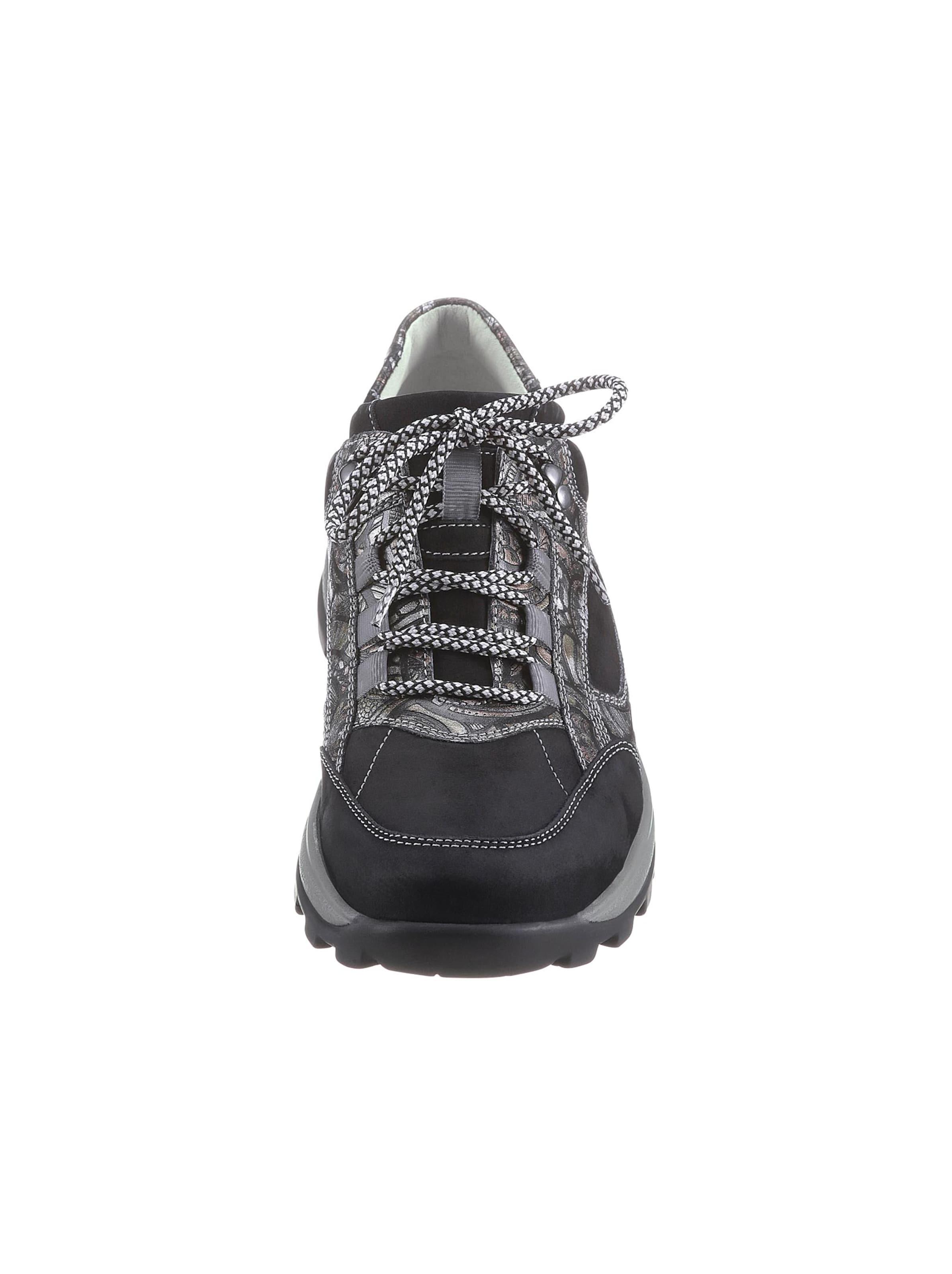 waldläufer - Witt Weiden Damen Schnürschuh schwarz-gemustert