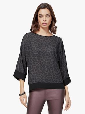 Bluse - schwarz-bedruckt