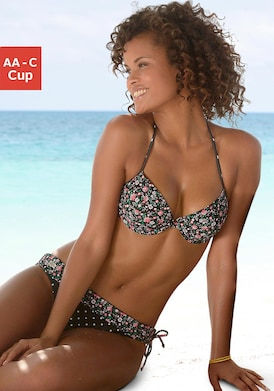 Buffalo Push-Up-Bikini-Top - schwarz-bedruckt