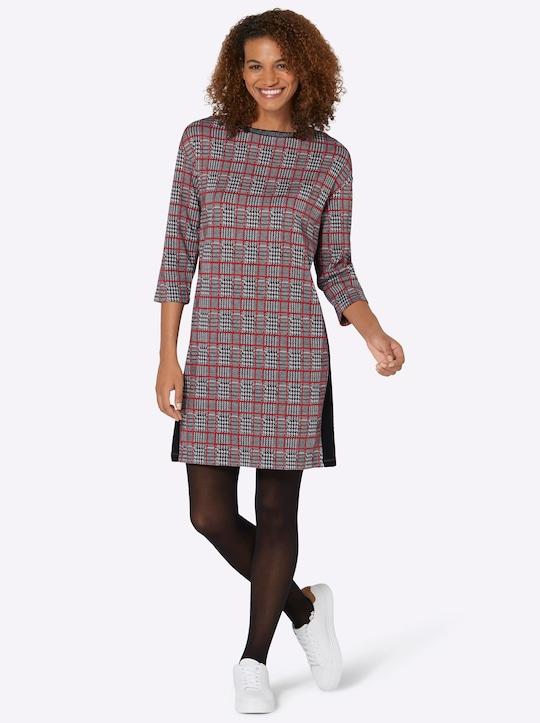 Karo-Kleid - schwarz-rot-kariert