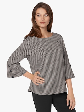 Shirt - schwarz-elfenbein