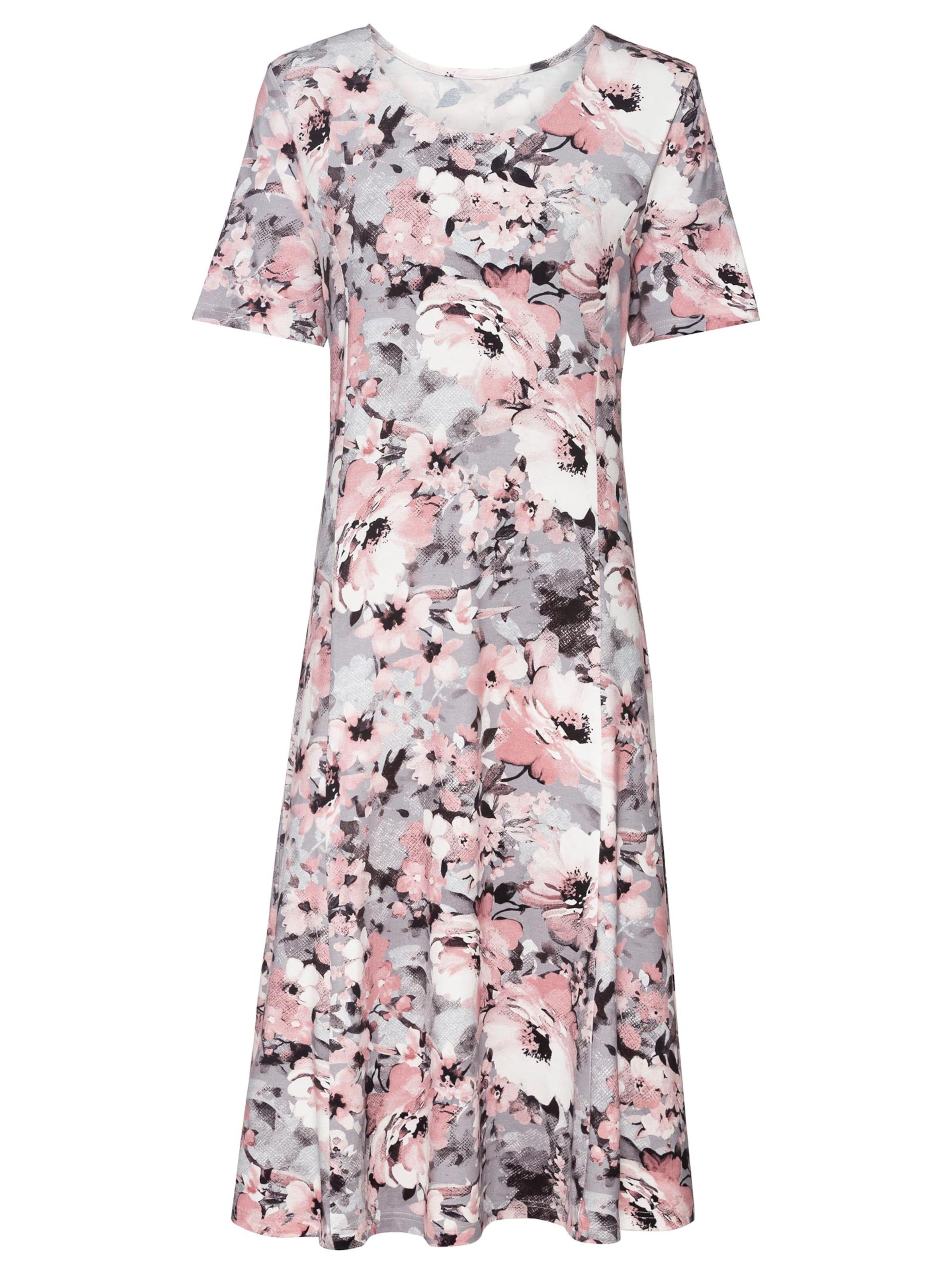 witt weiden -  Damen Jersey-Kleid hortensie-steingrau-bedruckt