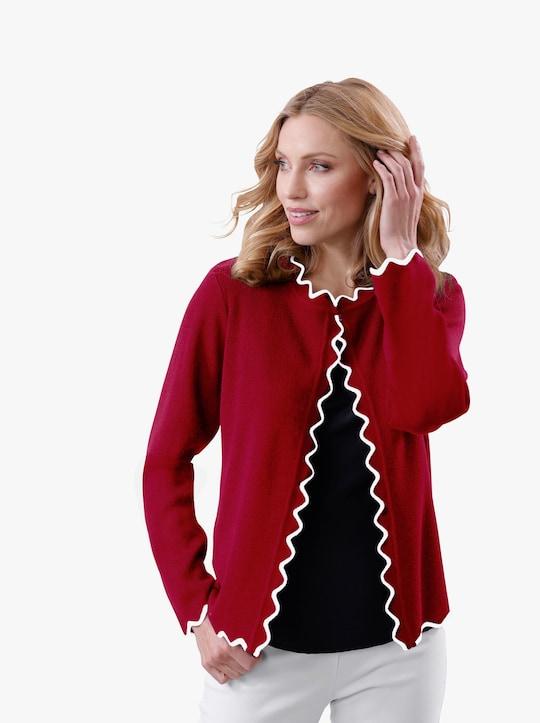 Pletený kabátek - třešňová