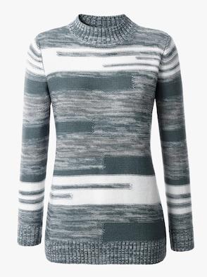Pullover - winterturquoise gemêleerd
