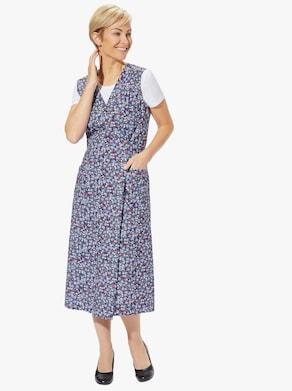 Omlottförkläde - blåblommig