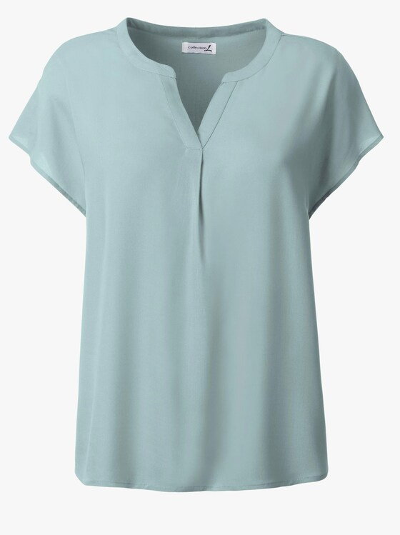 Kurzarm-Bluse - mint