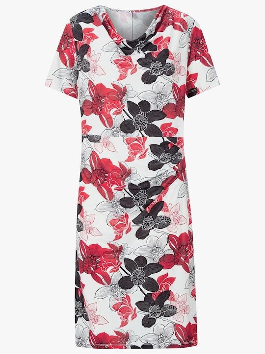 Fair Lady Jersey-Kleid - rot-schwarz-bedruckt