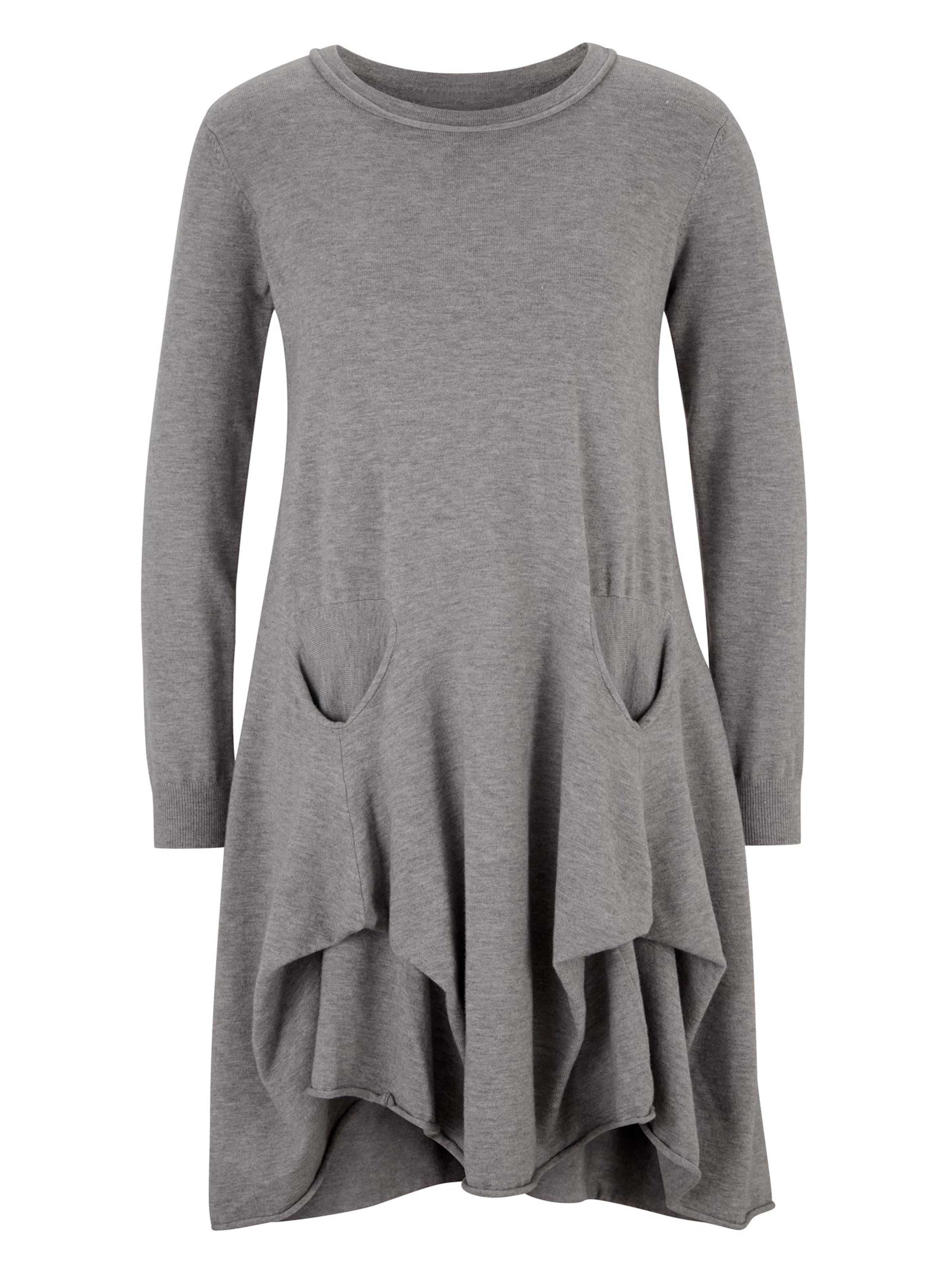 linea tesini - Witt Weiden Damen Strickkleid grau-meliert