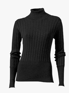 Rollkragen-Pullover - schwarz