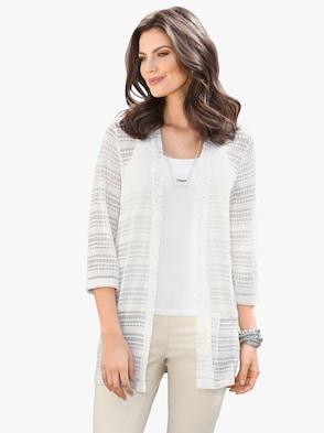 Shirtjacke - weiß