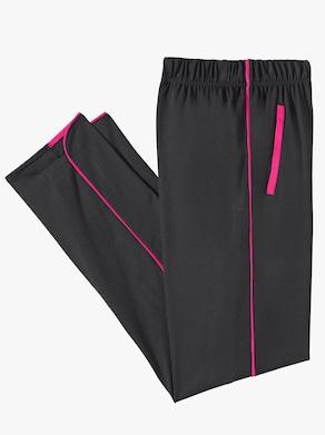Freizeithose - schwarz-pink