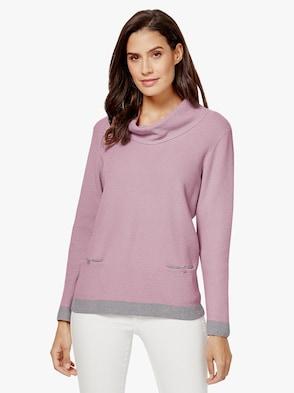Pullover - rosé-grau