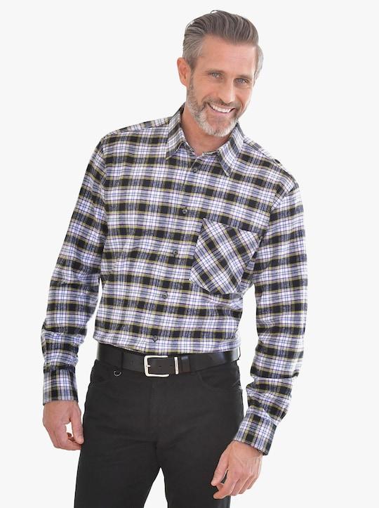 Hemd met lange mouwen - paars/groen geruit