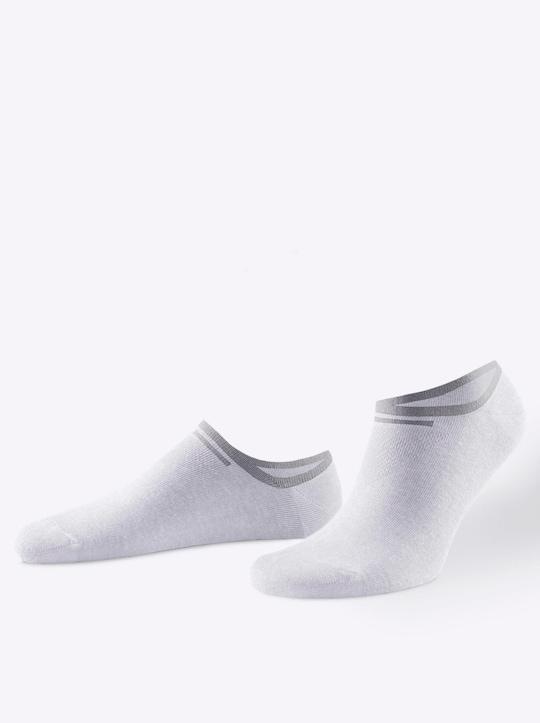 wäschepur Sneakersocken - weiß