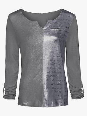 Druck-Shirt - grau