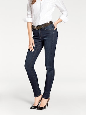 Linea Tesini Bauchweg-Jeans - dark denim