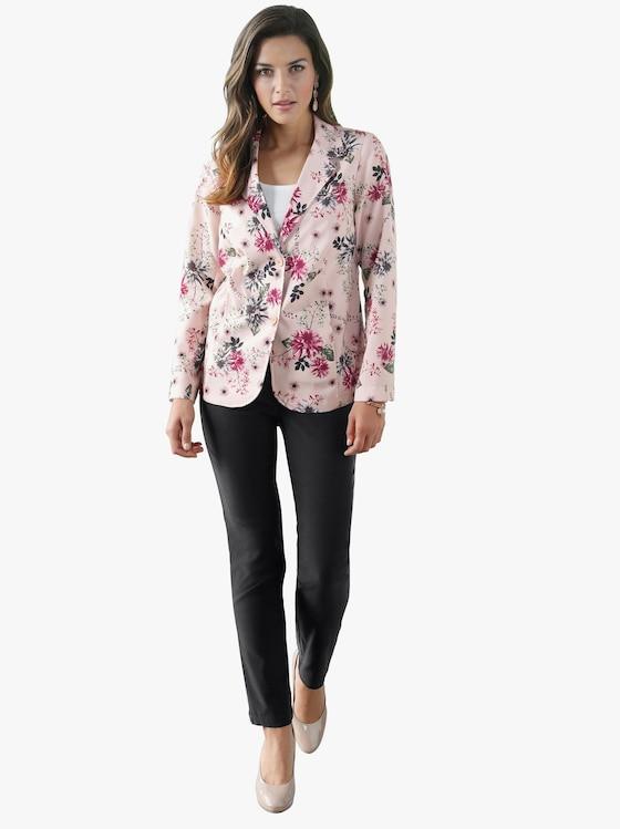 Blazer - roze geprint