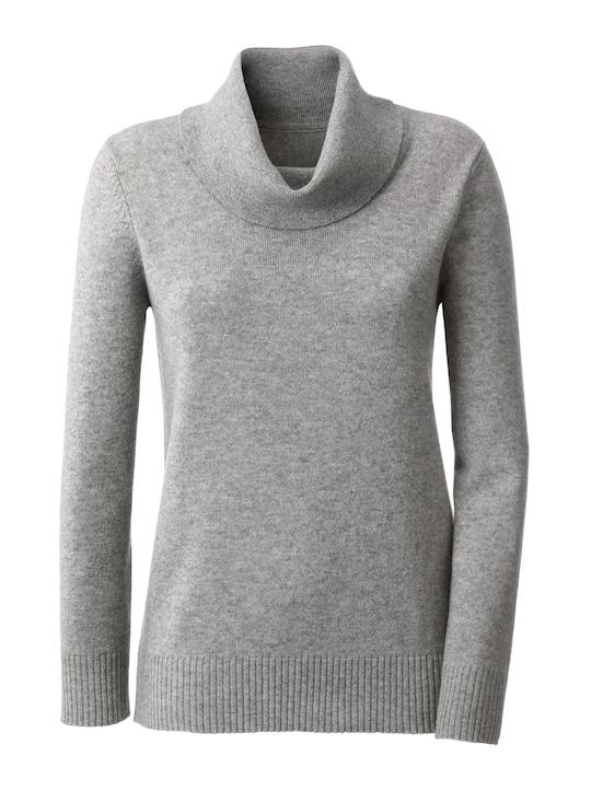 Kaschmir-Pullover - grau-meliert