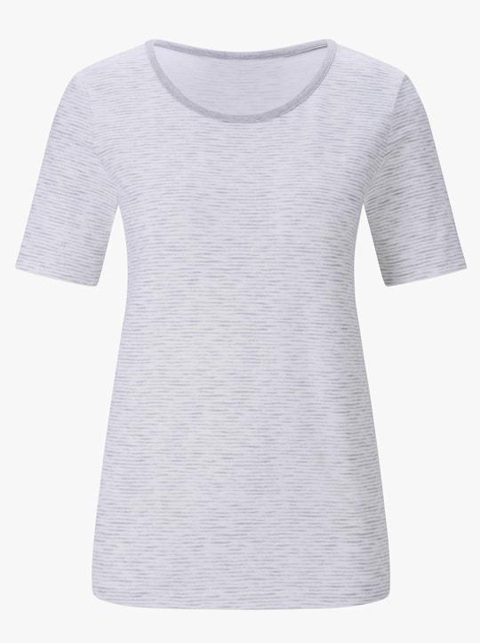 wäschepur Shirt - hellgrau-meliert + weiß-grau-meliert