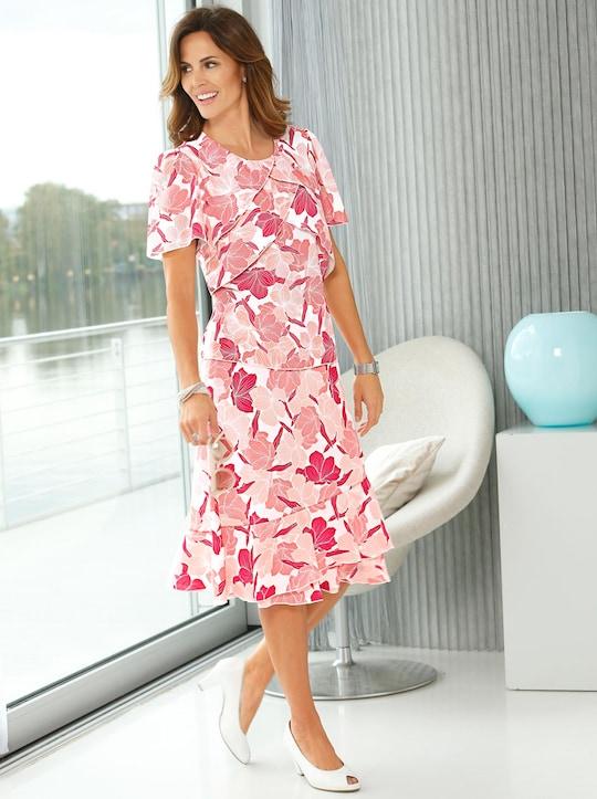 Fair Lady Schlupfrock - koralle-pink-bedruckt