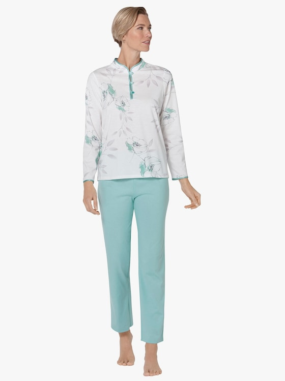 Arabella Schlafanzug - ecru-mint