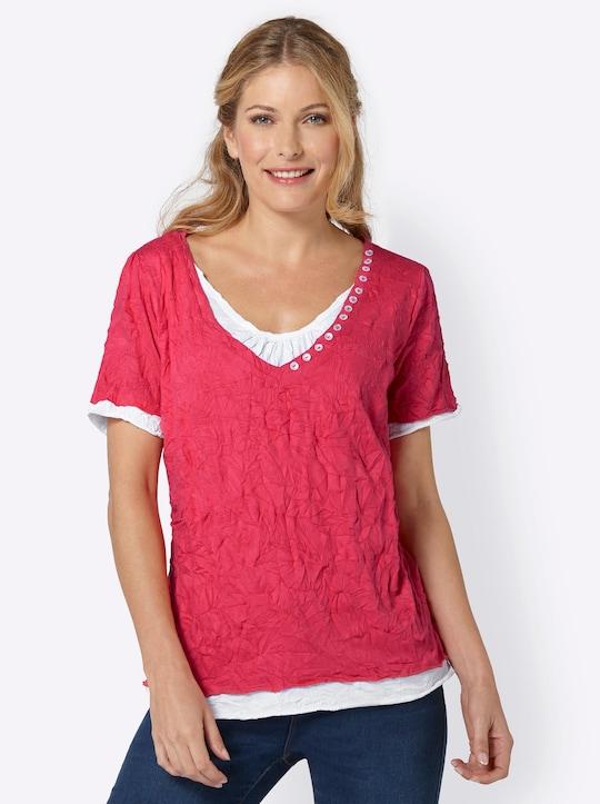 Shirt - rot-weiß